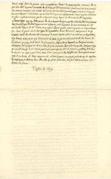 César François CASSINI DE THURY (1714-1784) astronome et cartographe, auteur de la fameuse Carte de France.