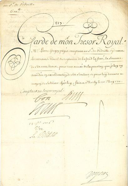 LOUIS XIV (1638-1715) Roi de France.