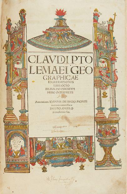 Ptolemee, Claude. Claudii Ptolemaei geographicae enarrationis libri octo Bilibaldo...