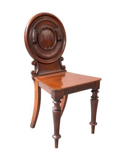 Travail Anglais 1880  Chaise en acajou à...