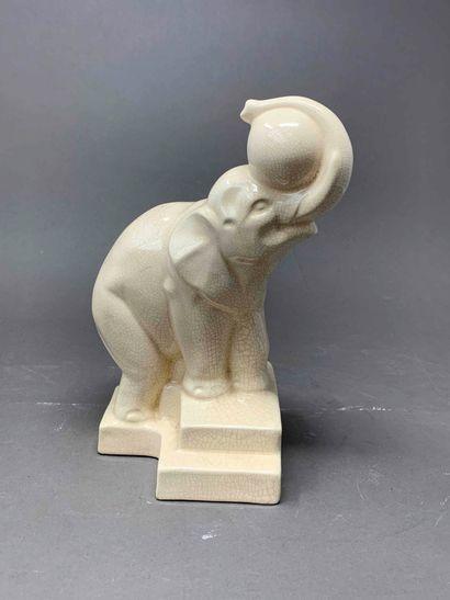 Manufacture de Longwy  Sculpture représentant...