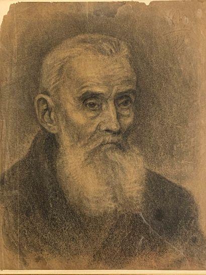A. M.  (actif en 1897)  Portrait d'homme...
