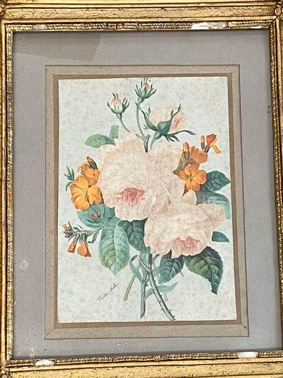 Pauline ALLAIN (XIXè - Xxè siècle)  Bouquet...