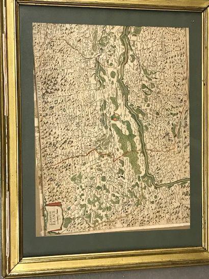 Carte Franche Comté réhaussée dans le gout...