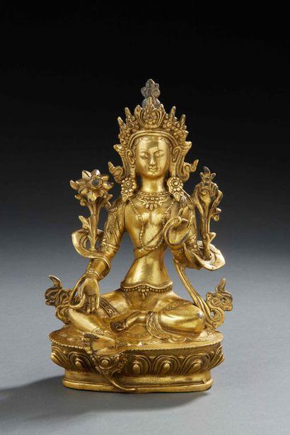 ART SINO TIBETAIN (ou Himalaya) - Figurine...