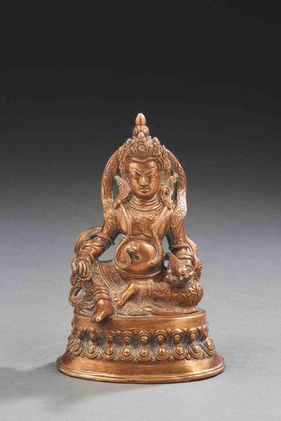 TIBET - XXe siècle  Statuette de Jambhala...