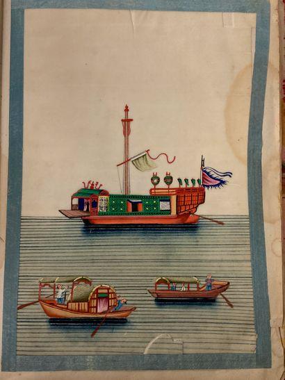 1 vol de peintures chinoises  (accident)...