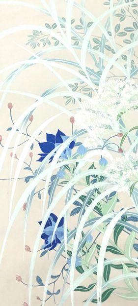 CHINE  Rouleau de peinture encre et couleur...
