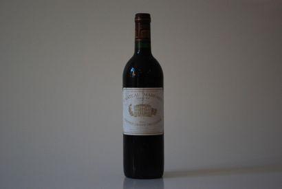 Une bouteille de Château Margaux 1985, 1er...