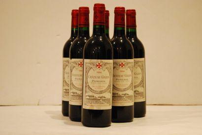 Six bouteilles de Château Gazin 1994, Po...