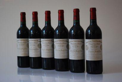 Six bouteilles de Château Cheval Blanc 1994,...