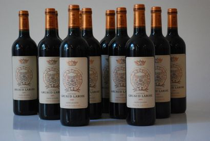 Douze bouteilles de Château Gruaud Larose...