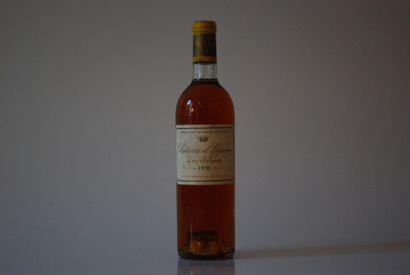 Une bouteille de Château d'Yquem 1970, 1er...