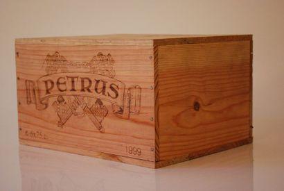 Une caisse de six bouteilles de Petrus 1999,...