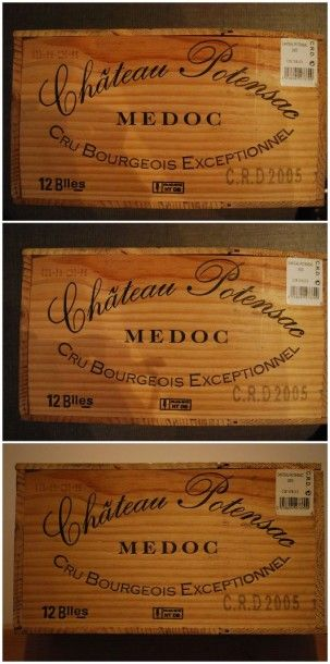 Trente six bouteilles de Château Potensac...