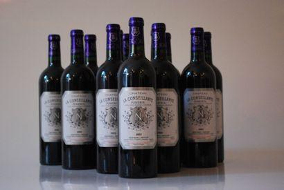 Douze bouteilles de Château La conseillante...