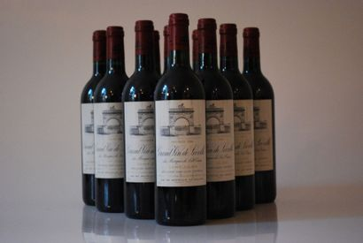 Dix bouteilles de Château Léoville Las Cases...