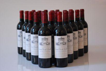 Vingt bouteilles de Château Léoville Las...
