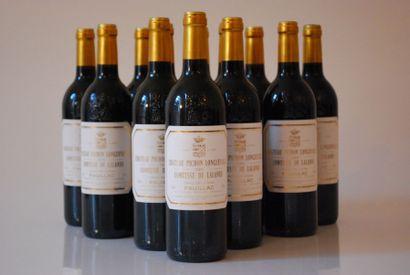 Douze bouteilles de Château Pichon Longueville,...