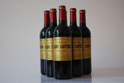 Six bouteilles de Château Brane Cantenac...