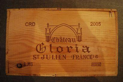 Une caisse de six magnums de Château Gloria...