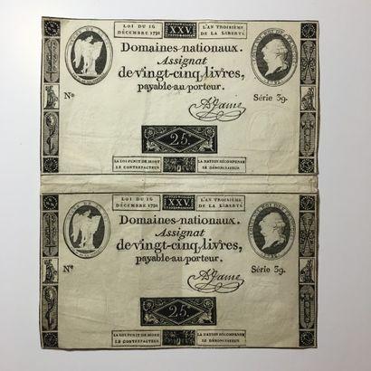 Assignats, 1791 2 Assignats