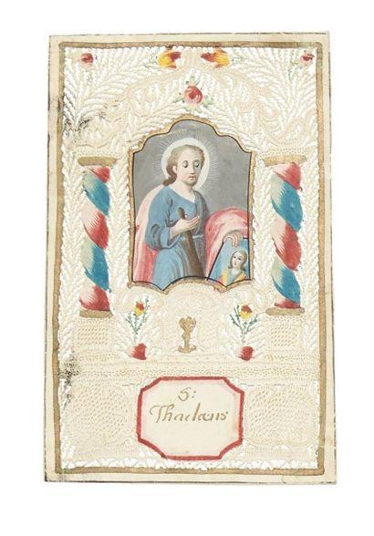 S. Thadaeus - Canivet sur papier, fin 18e...