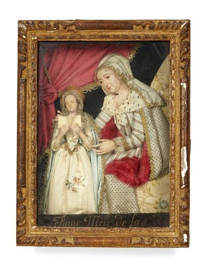 St. Anne et la Ste Vierge enfant, 18 s. Représentations en relief de la Vierge et...
