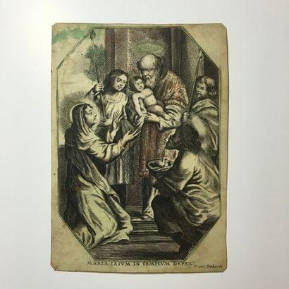 Maria Iesum in Templum Defert - Gravure sur...