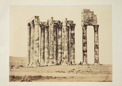 Photographies, ca 1860 - Grèce. Album contenant 36 tirages albuminés montés sur...