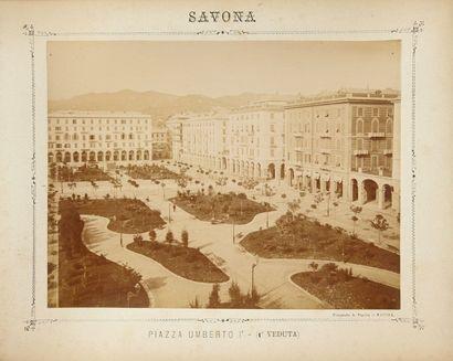 Photographies, ca 1890 - Port de Savone (Italie)...