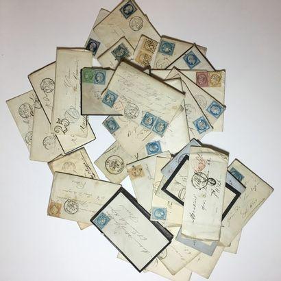 Marques postales et affr., 19e s. Petit ensemble...