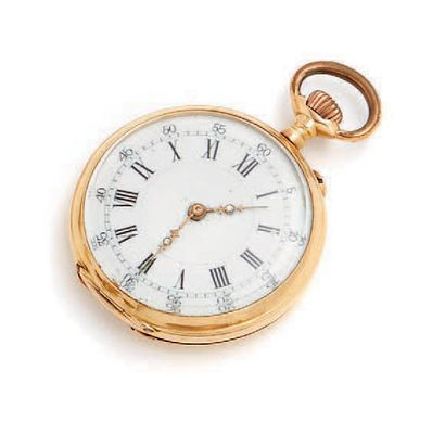 Petite montre à gousset en or et numérotée...