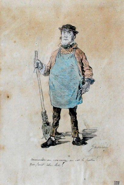 D'après Paul GAVARNI (1804-1866), école...