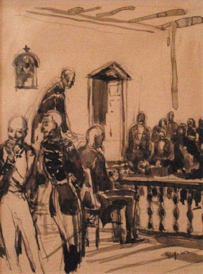 Emilien Léon Jean DUFOUR (XIX-XX)  Scène...