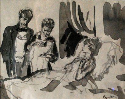 Emilien Léon Jean DUFOUR (XIX-XX)  Femme...