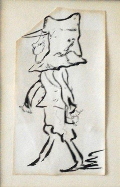 Caricature représentant un homme portant...
