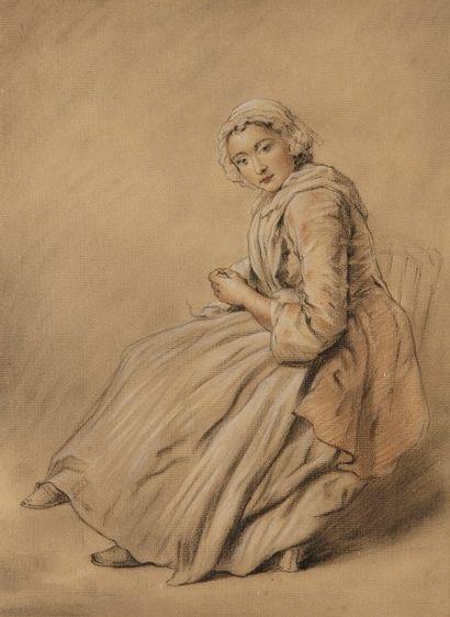 Ecole française du XIXème siècle.  Dessin...