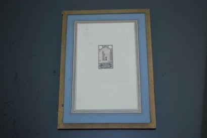 Ensemble de trois essais de timbre par J....