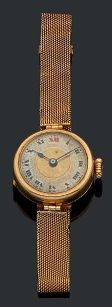 Montre bracelet de dame en or jaune 18K (750)...