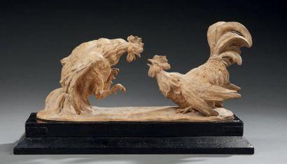 Sculpture en terre cuite représentant un...