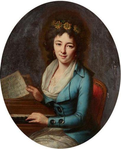 Monique DANICHE (née en 1736, active à Strasbourg) Portraits dits de Thérèse Tionchon...