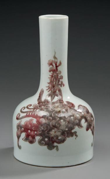 Suite à folle enchère CHINE Vase bouteille...