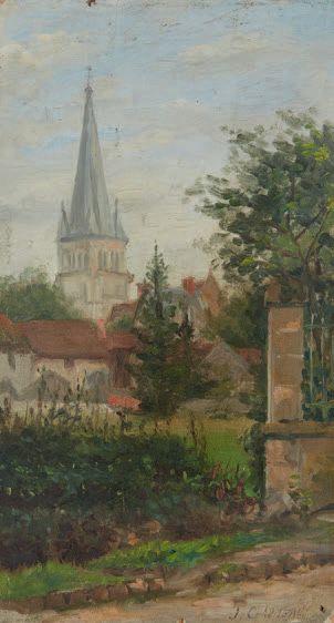 Eglise de Bourbon l'Archambault (Allier)...