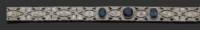 Bracelet ruban souple en or gris 18K (750)...