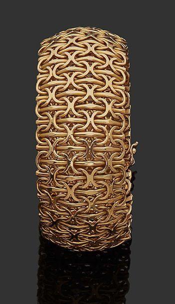 Bracelet ruban large souple paillasson en...
