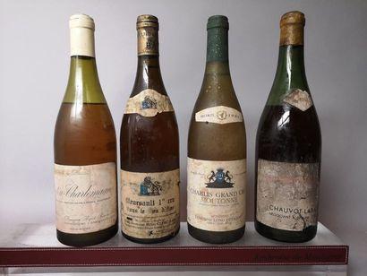 4 bouteilles BOURGOGNES BLANCS :  1 CHABLIS...