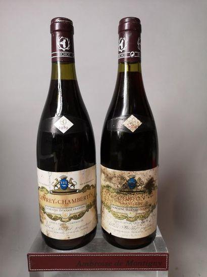 2 bouteilles BOURGOGNES ROUGES