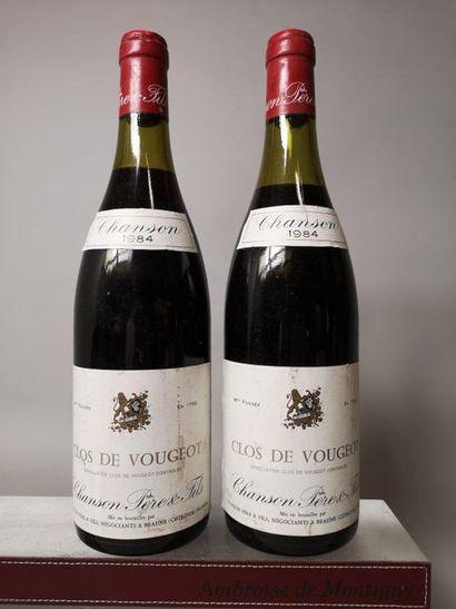 2 BOUTEILLES CLOS de VOUGEOT Grand cru -...