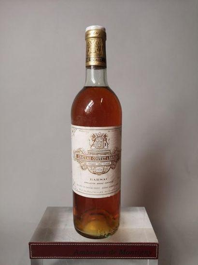 1 bouteille CHÂTEAU COUTET à BARSAC - 1er...